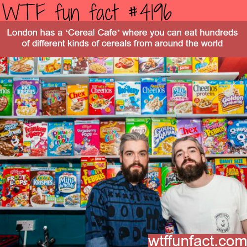 London's 'Cereal Cafe' -  WTF fun facts