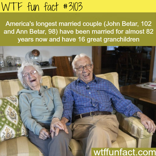 Longest married couple in America -  WTF fun facts
