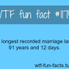 longest recorded marriage