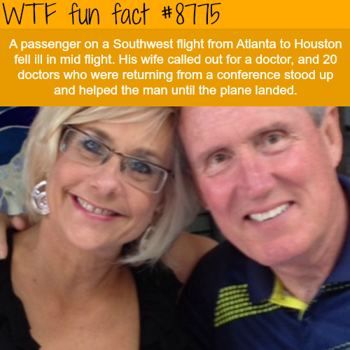 lucky passenger who fell ill on an airplane… - WTF fun facts