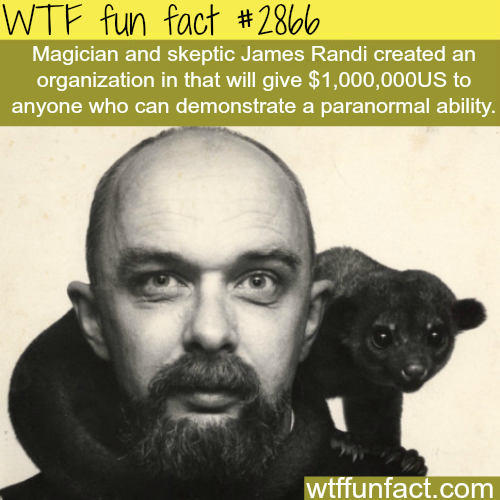 Magician James Randi -  WTF fun facts