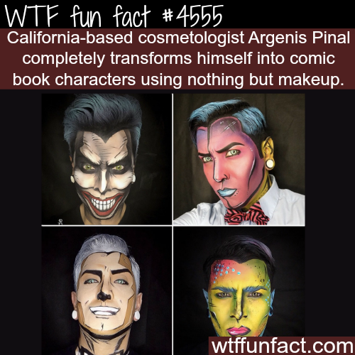 Make up artists transforms himself into comic book characters -   WTF fun facts
