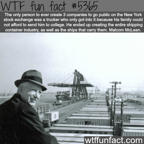 Malcom McLean - WTF fun facts