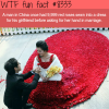 man in china had 9999 roses sewed into a dress