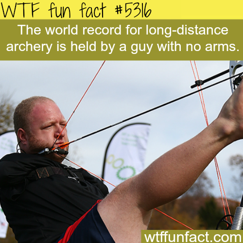 Man with no arms is one of the best archers in the world - WTF fun facts