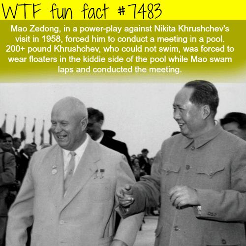 Mao Zedong power play against Nikita Khrushchev - FACTS