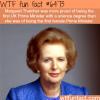 margaret thatcher wtf fun facts