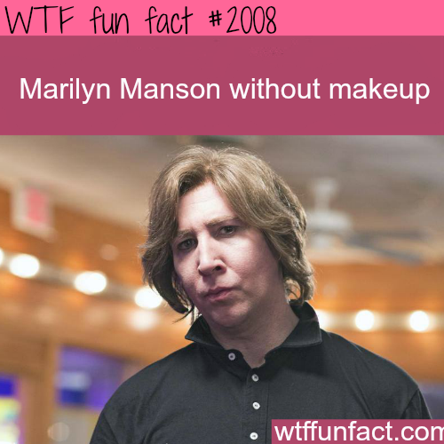 Marilyn Manson Without Makeup -WTF fun facts