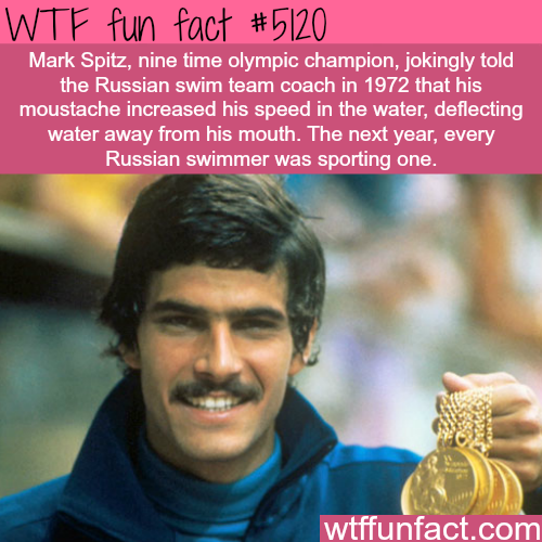 Mark Spitz mustache - WTF fun facts