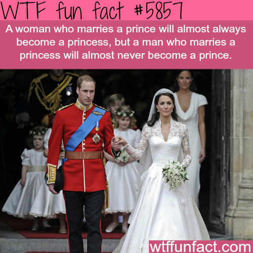 Marrying a prince - WTF fun facts