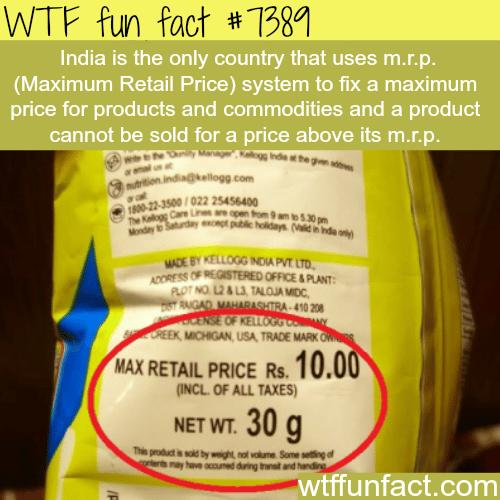 Maximum Retail Price - WTF fun facts