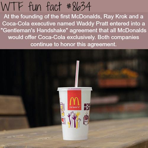 McDonaldsand Coca-Colacontract - WTF fun facts