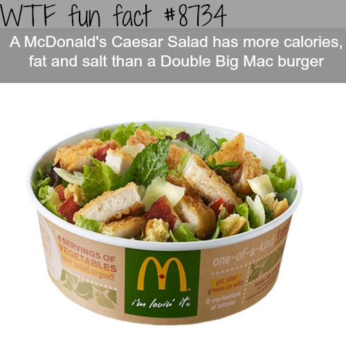 McDonald's Caesar Salad - WTF fun facts