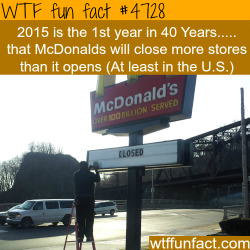 McDonalds to close more stores than it will open this year - WTF fun facts