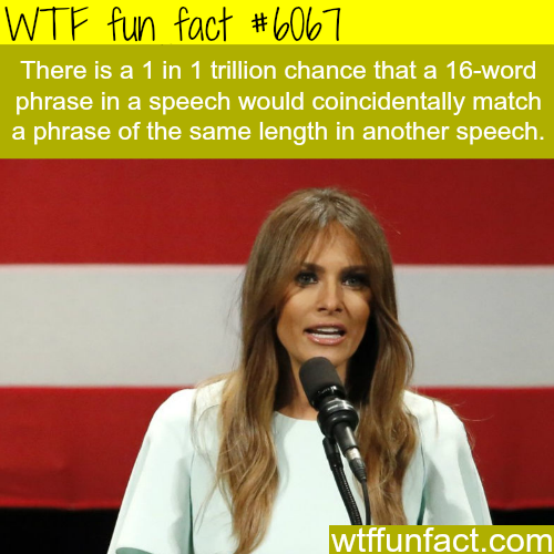 Melania trump's speech plagiarism - WTF fun facts