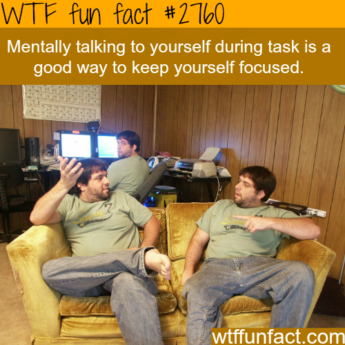Mentally talking to yourself-WTF fun facts