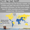 michael phelps has more gold medas than 100