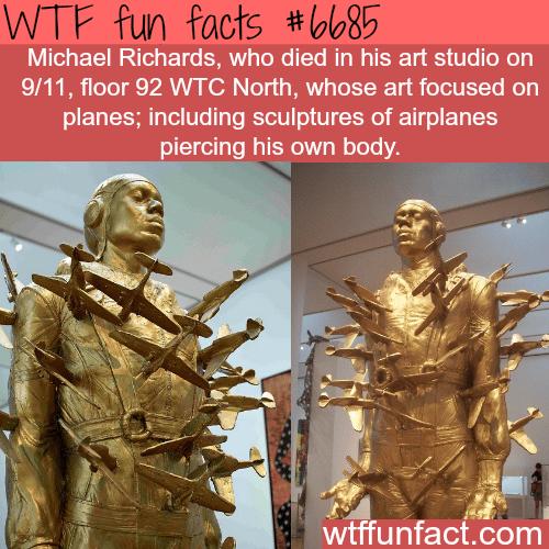 Michael Richards' sculpture