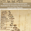 michelangelos shopping list wtf fun fact