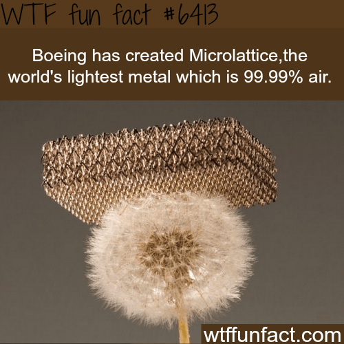 Microlattice - WTF fun facts