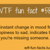 missing someone facts