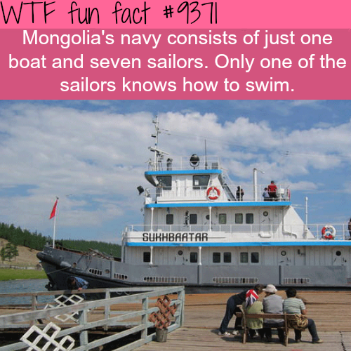 Mongolia's navy - WTF fun facts