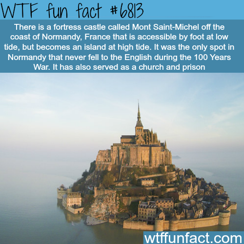 Mont Saint-Michel - WTF fun fact