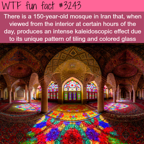 Mosque in Iran that produces a kaleidoscopic effect -WTF fun facts