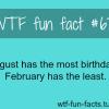most birthday month