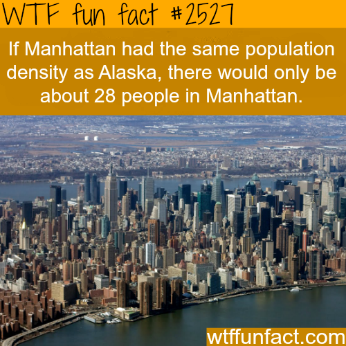 Most Densely Places in the U.S. and the World -WTF funfacts