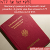 most powerful passport wtf fun fact