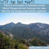 mount disappointment wtf fun fact