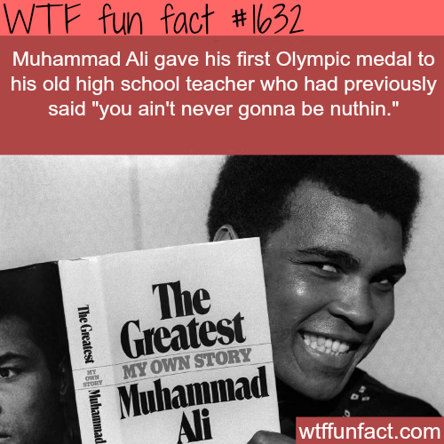 Muhammed Ali Olympic medal -WTF fun facts