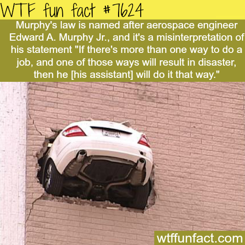Murphy's law - WTF fun facts