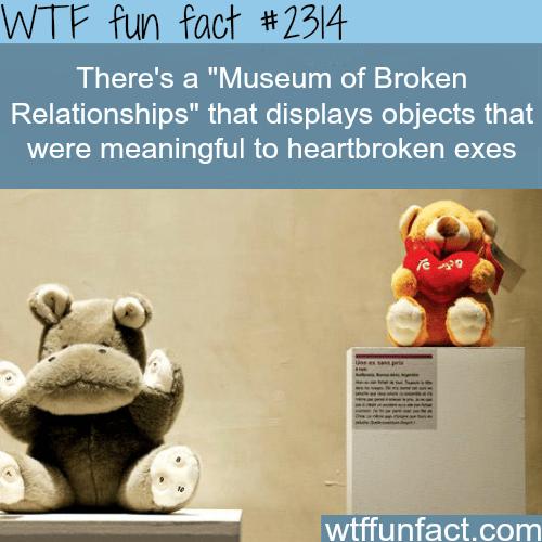Museum of Broken Relationships -WTF funfacts