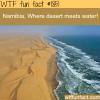 namibia desert meets water