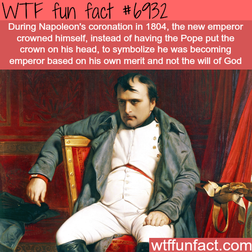 Napoleon's coronation - WTF fun fact