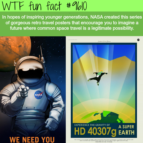 NASA made these beautiful posters to encourage space travel - WTF fun fact