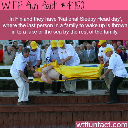 National Sleepy Head day - WTF fun facts