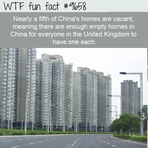 Nearly a fifth of China's homes are vacant