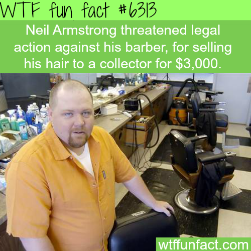 Neil Armstrong's hair sold for $3000 by his barber - WTF fun facts