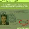 neo s passport in the movie the matrix