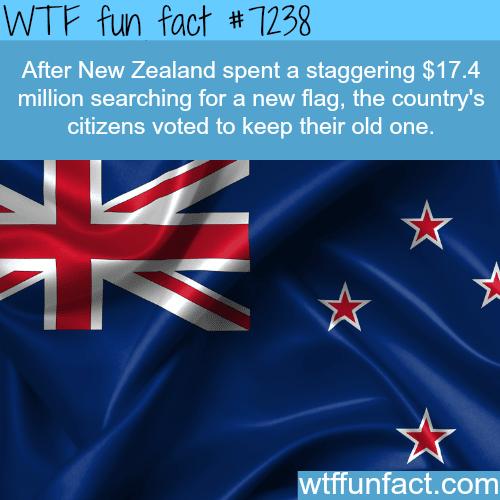 New Zealand's flag - WTF Fun Fact