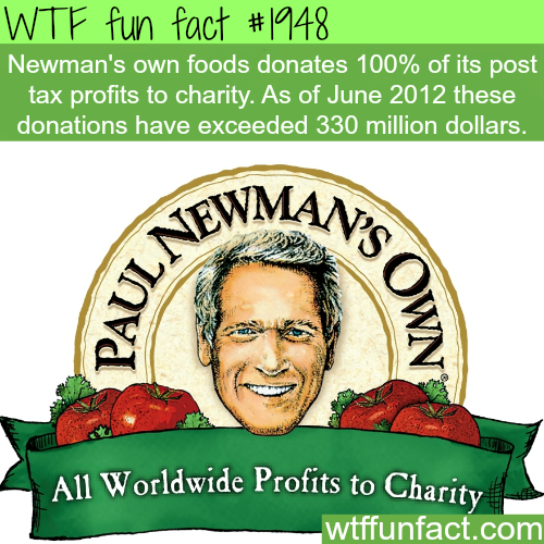Newman's own foods - WTF fun facts