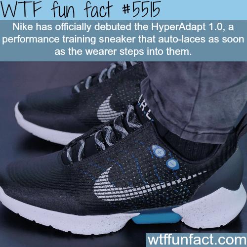 Nike's HyperAdapt 1.0 - WTF fun facts