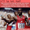 olympic sprinter was unable to catch kids who