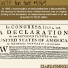 original printing of the declaration of