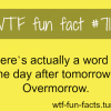 overmorrow meaning