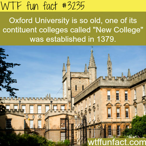 Oxford University -  WTF fun facts