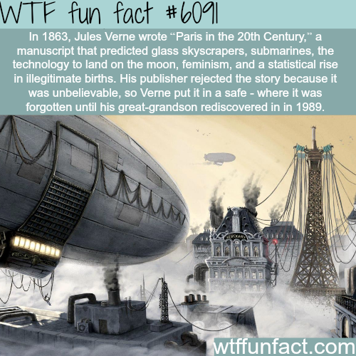 """Paris in the 20th Century"" by Jules Verne - WTF fun facts"